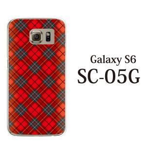 ギャラクシー S6 ケース SC-05G GalaxyS6 カバー / タータンチェック (ギャラクシーS6/SC05G/ドコモ)|kintsu
