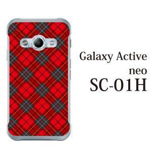 Galaxy Active neo SC-01H sc01h ケース カバー スマホケース スマホカバー タータンチェック kintsu