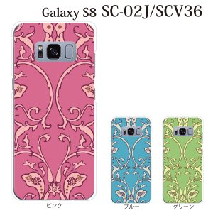 スマホケース Galaxy S8 SCV36 ケース カバー ペイズリー TYPE6 kintsu