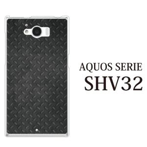 AQUOS SERIE SHV32 ケース ブラック メタル 鉄風|kintsu