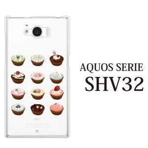 AQUOS SERIE SHV32 ケース スウィート ケーキ /|kintsu