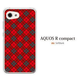 AQUOS r compact ケース アクオスrコンパクト ケース カバー SHV41 おしゃれ かわいい タータンチェック kintsu