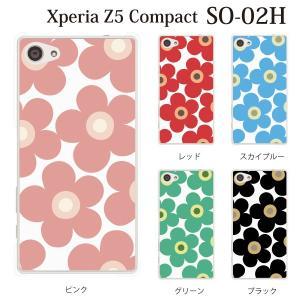 Xperia Z5 Compact SO-02H so02h ケース カバー スマホケース スマホカバー フラワー