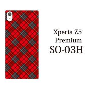 Xperia Z5 Premium SO-03H so03h ケース カバー スマホケース スマホカバー タータンチェック|kintsu