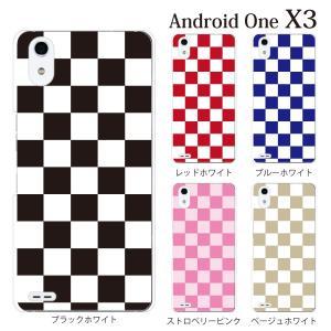 スマホケース ワイモバイルスマホカバー アンドロイドワンx3 ハードケース androidone チェッカーフラッグ|kintsu