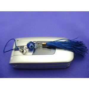 ナザールボンジューストラップ(トルコの眼玉) スマートフォン アクセサリー 携帯 ストラップ|kintsu
