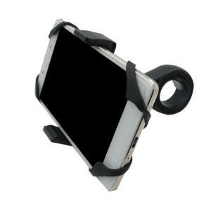 自転車ホルダー スマホホルダー バイク 自転車 スマホスタンド 自転車 車載 携帯ホルダー  携帯 ハンドルにも簡単 便利 快適 サイクルライフ ナビ ブラック|kira-bsmile