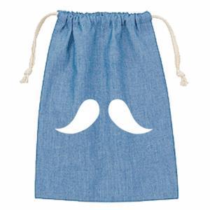 デニム 巾着 M オーダーメイド 子供の絵 チームロゴ 手足型 ペット 写真 オリジナルデザイン|kira-bsmile