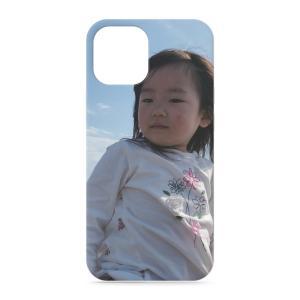 iPhone12mini スマホケース オーダーメイド 背面ケース 表面印刷 子供の絵 チームロゴ ペット 写真 オリジナルデザイン|kira-bsmile