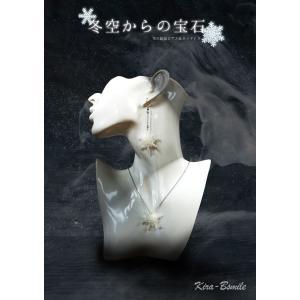 フックピアス ネックレス 雪の結晶 セット オリジナル 1点物|kira-bsmile