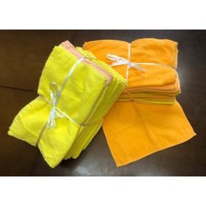 フェイスタオルウエス 色付き(オレンジ・黄色) 1kg×12 綿100%|kirakirastudio-b