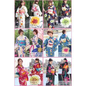レディース レトロ 浴衣 単品 はんなり涼美人 国内染め 高級 変り織 全11種 Sサイズ|kirakukai|02