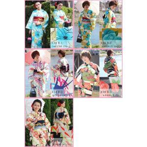 レディース レトロ 浴衣 単品 はんなり涼美人 国内染め 高級 変り織 全11種 Sサイズ|kirakukai|03