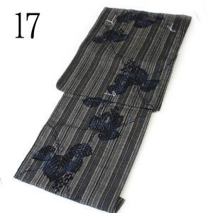 レディース 地味渋 浴衣 全12柄 古典柄 地味 渋い じみ しぶい 変わり織 先染め 綿麻 単品|kirakukai|13