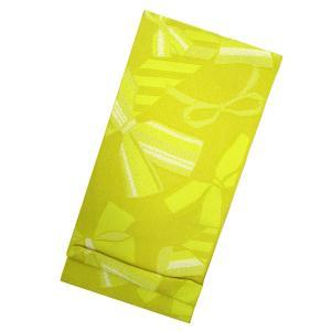 訳あり 浴衣帯 リボン(黄色×ラメ) アウトレット OUTLET 半帯 半巾帯 単衣帯 ゆかた 浴衣 レディース kirakukai