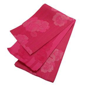 訳あり 浴衣帯 ストライプとバラ(ピンク×ラメ) アウトレット OUTLET 半帯 半巾帯 単衣帯 ゆかた 浴衣 レディース kirakukai
