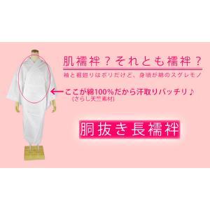 胴抜き 長襦袢 白 半衿 衣紋抜き付き|kirakukai