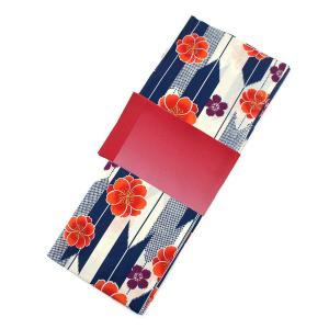 レディース 浴衣 2点 セット フリーサイズ 鹿の子の矢絣と芝桜(砂色地) 赤色のぼかし帯 [y2667] ゆかた コーディネート|kirakukai