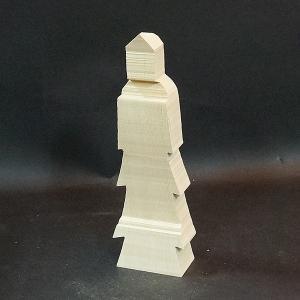 救世観音【木取り済】角材の余計な部分を削りとってあるので、らくらく彫れます★初めての仏像彫刻|kirakuya-yshop