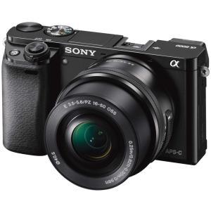 ソニー SONY ミラーレス一眼 α6000 パワーズームレンズキット E PZ 16-50mm F3.5-5.6 OSS ブラック ILCE-6000L B|kirameki-syooten