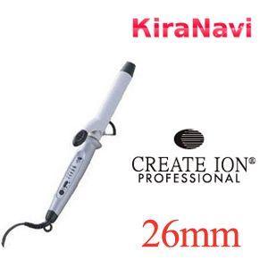 CREATE クレイツ イオン カールアイロン 26mm コテ 巻き髪 ヘアーアイロン|kiranavi