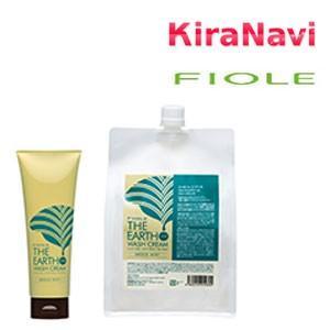 フィヨーレ ジ アース ウォッシュクリーム ブリーズミント 240g 《泡の立たないシャンプー・洗い流すヘアトリートメント》|kiranavi