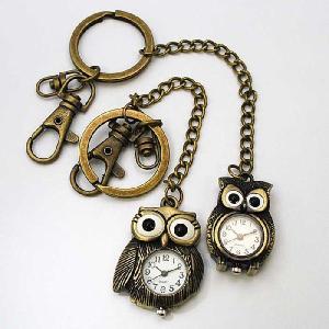 メール便OK[ラポール] Rapport レディース ファッション ウォッチ キーホルダー時計 ふくろう 懐中時計|kirara-s