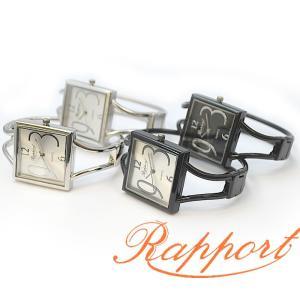 [ラポール] Rapport レディース ファッション 腕時計 バングル メタルバングル スクエアフェイス|kirara-s