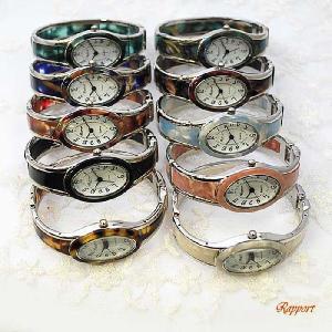 バングルウォッチ [ラポール] Rapport レディース ファッション 腕時計 バングル 楕円小シルバー(188231)|kirara-s