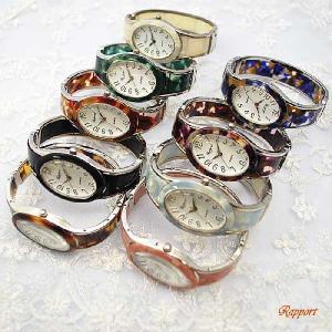 バングルウォッチ [ラポール] Rapport レディース ファッション 腕時計 バングル 楕円大シルバー(188614)|kirara-s