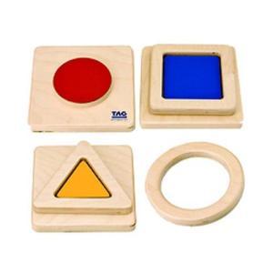 色の形の触覚板(ES-10)【TAGTOYS(タグトイ)】【モンテッソーリ】 kirarasizen