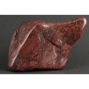 ジャスパー 原石 磨き 256g / 佐渡の赤玉石