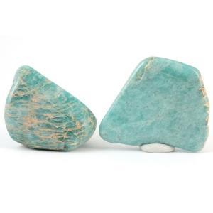 アマゾナイト 原石 磨き2個セット 55g|kirari-ishi