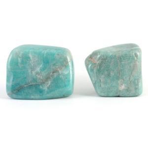 アマゾナイト 原石 磨き2個セット 48g|kirari-ishi