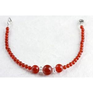 天然石羽織紐兼ブレスレット 赤瑪瑙(メノウ)|kirari-ishi