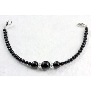 天然石羽織紐兼ブレスレット ブラックオニキス|kirari-ishi