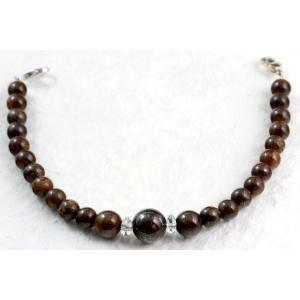 天然石羽織紐兼ブレスレット ブロンザイト|kirari-ishi