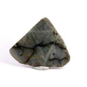 ラブラドライト 原石 一面磨き 126g|kirari-ishi