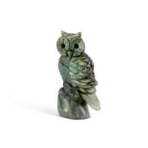 ラブラドライト 彫刻 鳥の置物 75g|kirari-ishi
