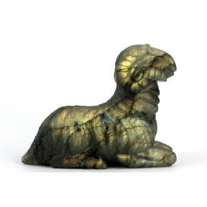 ラブラドライト 彫刻 羊の置物 67g|kirari-ishi