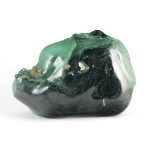 マラカイト (孔雀石) 原石 磨き 343g|kirari-ishi