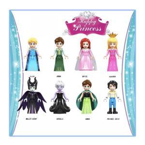 アナと雪の女王 2 マレフィセント 2 他 プリンセス ミニフィグ 8体セット レゴ互換 / アナ雪