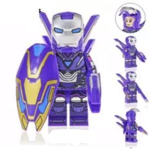 ペッパーポッツ レスキュー 紫スーツ 武器付属 取り外し可能羽根付き ミニフィグ レゴ互換 / アベンジャーズ アイアンマン アメコミ マーベル