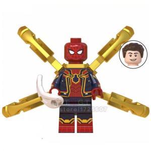 スパイダーマン  素顔付き インフィニティ・ウォー Ver.  ミニフィグ レゴ互換 アイアンスパイ...