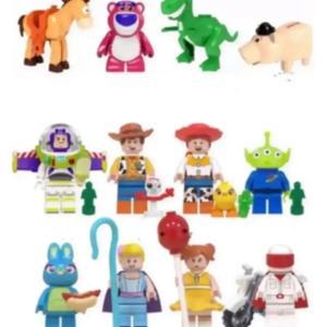 トイストーリー 4   バズライト イヤー ウッディ 他 ミニフィグ16体 (動物4体含む) レゴ互...