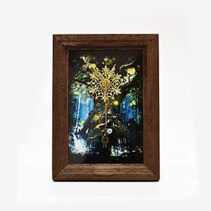 不思議なココペリ 聖樹の置時計 ジュエリークロック プレゼント  置き時計  即納 ポスト投函で送料無料|kireinina-re