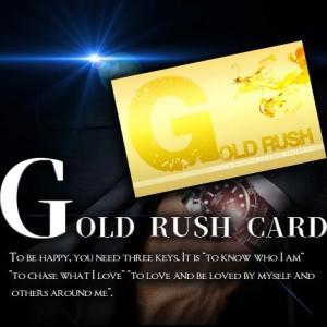 ゴールドラッシュカード 開運カード  ポスト投函で送料無料|kireinina-re