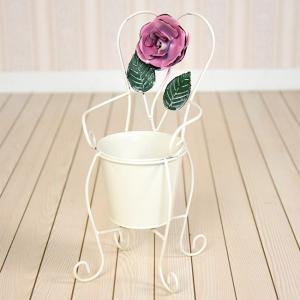 アンティークホワイト・ローズ ポット yts-3172(ばらのガーデニング用品 かわいい鉢カバー・花台) kireispot