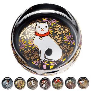 江戸猫ぐらす 箸置(箸置き 猫の絵柄 おしゃれ かわいい 和 箸置 ギフト ガラスでできた 猫雑貨 小物 ねこ雑貨)|kireispot