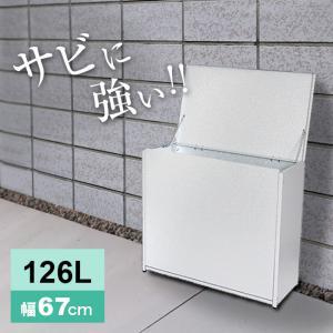 屋外ゴミ収納庫 中 幅67 A031 屋外に設置する家庭用の大きいサイズのゴミ箱(外置き) 大容量な...